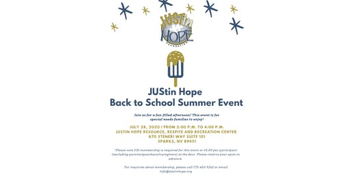 JUStin Hope Back to School Summer Event