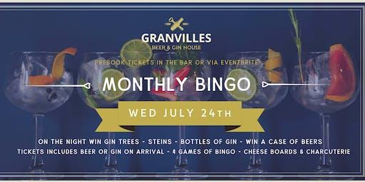 GRANVILLES - MONTHLY - BINGO!
