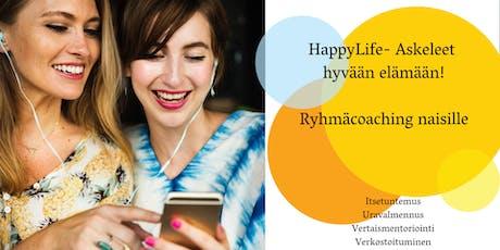 HappyLife-ryhmäcoaching workshop Keskustakirjasto Oodissa tickets