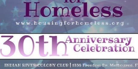 Housing for Homeless 30th Anniversary Celebration tickets