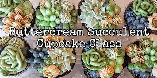 Buttercream Succulent Cupcake Class - July 23 Evening