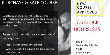 Residential Purchase and Sale Course tickets