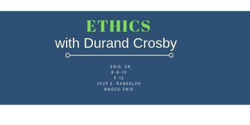 Ethics CE for Mental Health & Addiction Treatment Professionals in Enid, OK