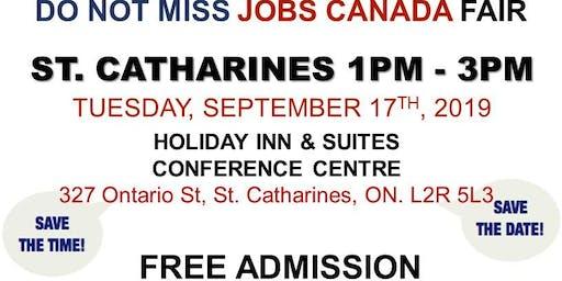 St. Catharines Job Fair – September 17th, 2019