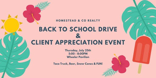 Back to School Drive - Homestead & Co Client Appreciation