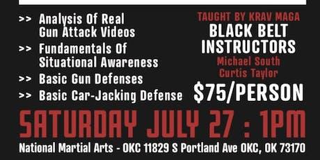 Krav Maga Gun Defense/ Carjacking Seminar  tickets