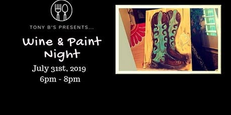 Texas Boots Wine & Paint Night tickets