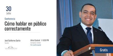 Conferencia: Cómo hablar en público correctamente entradas