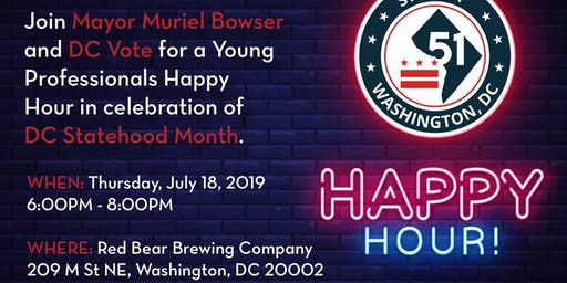 DC Statehood Young Professionals Happy Hour