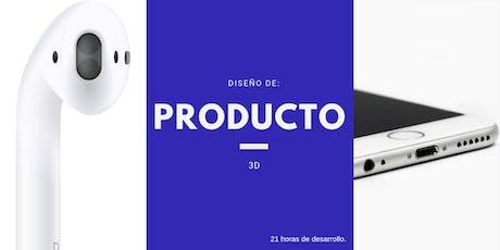 Diseño de producto 3D entradas