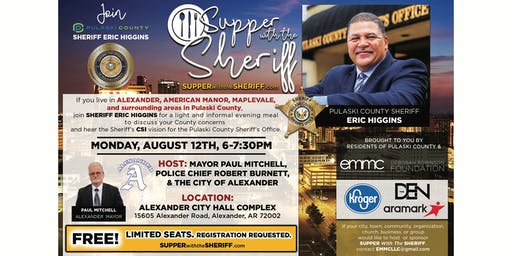 Supper with the Sheriff - ALEXANDER - August 12th