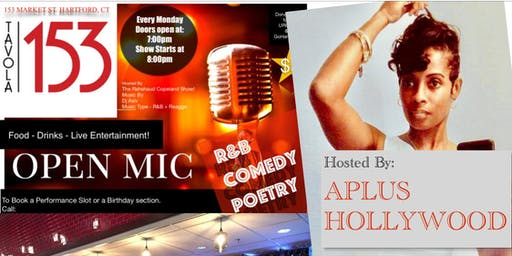 Perform A 10 Minute Comedy, Poetry, R&B Set A Tavola 153 Open Monday Open Mic Night.