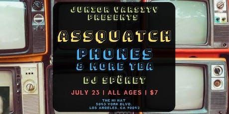 Assquatch, PHONES, Rearranged Face, DJ Spöket tickets