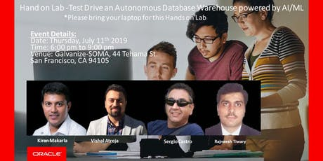 Oracle Hand on Lab -Test Drive an Autonomous Database Warehouse powered by AI/ML tickets