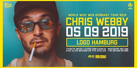 Chris Webby Live in Hamburg - 05.09.19 - Logo Tickets