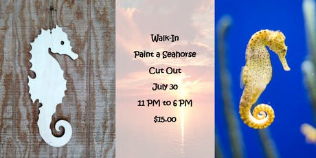 Walk-In: Paint a Seahorse Cut Out tickets