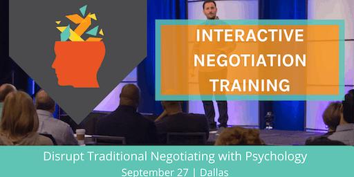 INTERACTIVE NEGOTIATION TRAINING: Applying Psychology to Negotiation