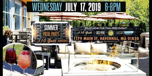 Summer Patio Party at 110 Grill Haverhill
