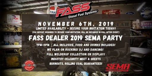 FASS Fuel Systems Dealer 2019 SEMA Party (2 Attendees)