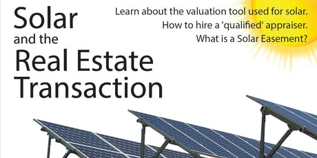 Solar and the Real Estate Transaction - Oct 24 tickets