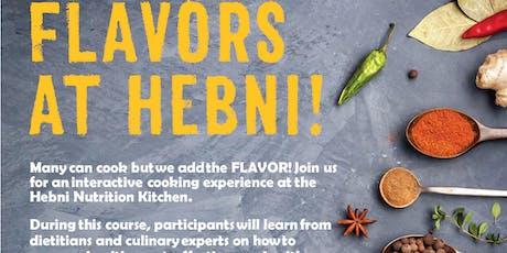 Flavors Cooking Class Summer 2 tickets