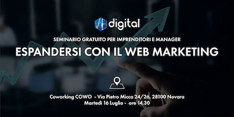 Espandersi con il Web Marketing biglietti