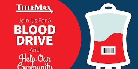 Blood Drive at TitleMax Rock Hill, SC 2 tickets