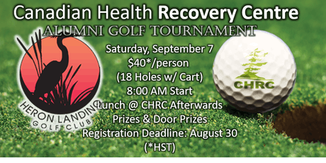 Canadian Health Recovery Centre Alumni Golf Tournament tickets