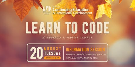 Learn to Code at Miami Dade College - Fall 2019 tickets