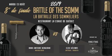8e de finale - Restaurant la Cohue - Battle of the Somm 2019 billets