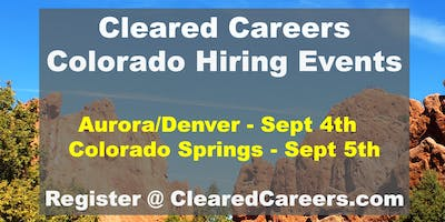 Cleared Careers Hiring Event - Colorado Springs