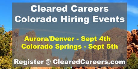 Cleared Careers Hiring Event - Colorado Springs tickets