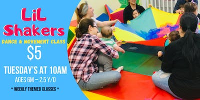 LiL Shakers Dance & Movement Class TUESDAYS (Ages