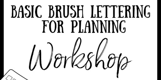 MPM Presents 'BASIC BRUSH LETTERING' with Andy from PAPERHAUL.