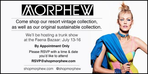 Morphew Swim Week & Trunk Show by Appointment Only