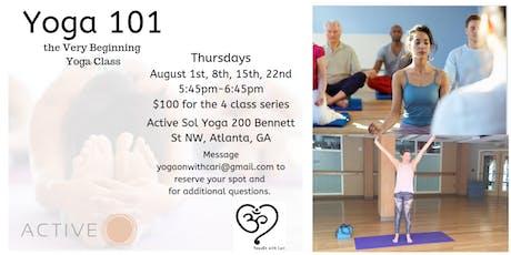 Yoga 101, the Very Beginning Yoga Class tickets
