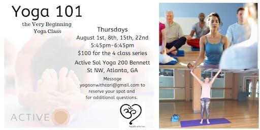 Yoga 101, the Very Beginning Yoga Class