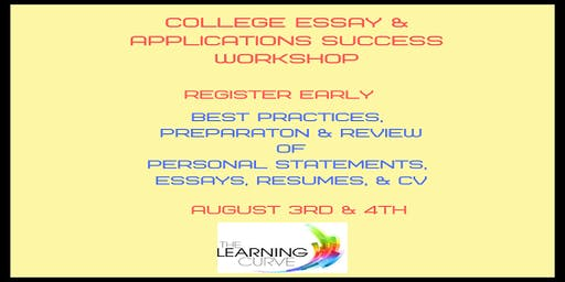 College Essay & Applications Success Workshop