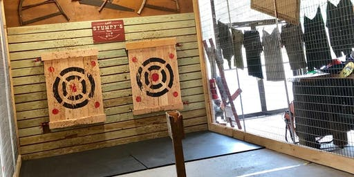 Visions and Pathways' Axe Throwing Charity Event