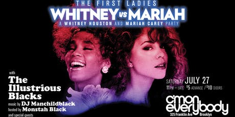 Whitney vs Mariah tickets