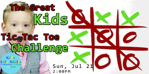 The great Tic Tac Toe challenge, parent and child age 7-13