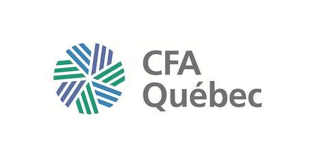 Cocktail de la rentrée 2019 des membres CFA Québec billets