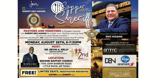 Supper with the Sheriff - PASTORS AND MINISTERS - August 26th