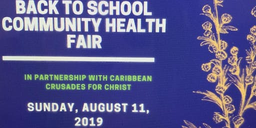 Back To School Community Health Fair