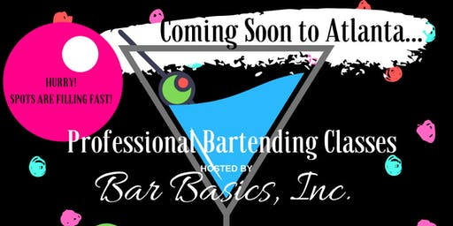 Professional Bartending Class: Hosted by Bar Basics, Inc.