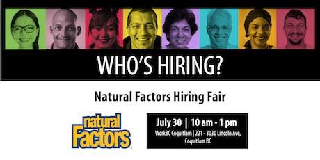 Who's Hiring? Natural Factors tickets