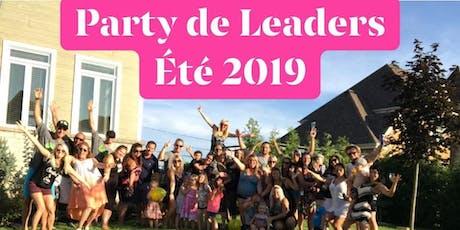 Party de Leaders été 2019 tickets
