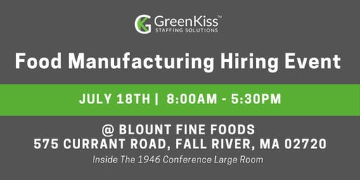 Food Manufacturing Hiring Event
