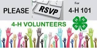 4-H Volunteer Round Up 2019