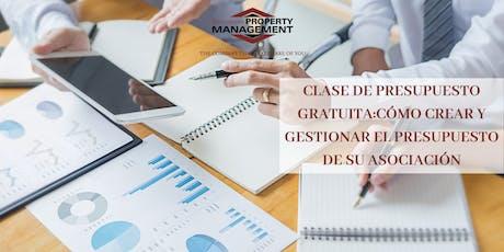 CLASE GRATIS DE PRESUPUESTO: CREAR/GESTIONAR EL PRESUPUESTO DE SU COMUNIDAD tickets